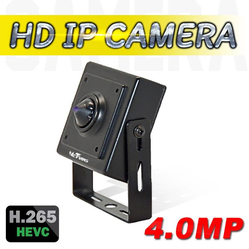 Offre spéciale Mini HD Caméra IP 4.0MP Onvif H.264 H.265 CCTV Caméra IP 1080 P HD Mini objectif sténopé P2P Home Video caméras de surveillance