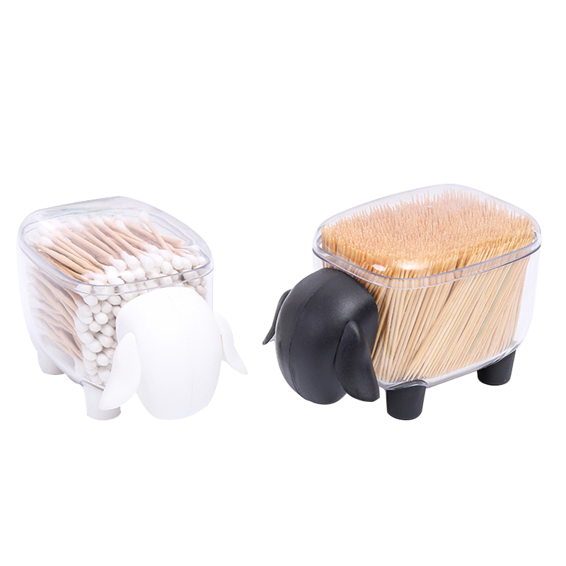 Transparent Desktop Makeup Organizers Women Cotton Swab Pad Toothpick Make Up Boxes Office Paper Clip Storage Container Supplies