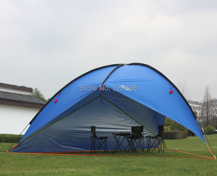 2014 New style high quality ultralight waterproof 480*480*480*200cm large size sun shelter camping tent купить дешево онлайн