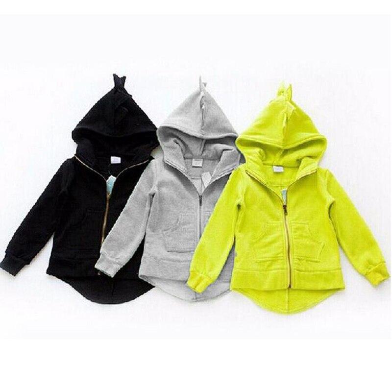 New Autumn Winter Cute Kids Dinosaur Hoodies Children's Girls Boys Hooded Sweatshirts Clothes Outfits Tops MU900324