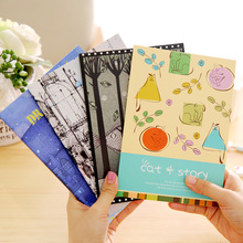 Cute Korean Stationery Lovely A5 Daily Notebook Softcopy Book Planners Memo Pad Adults Kids School Learning 4pcs/lot 4styles