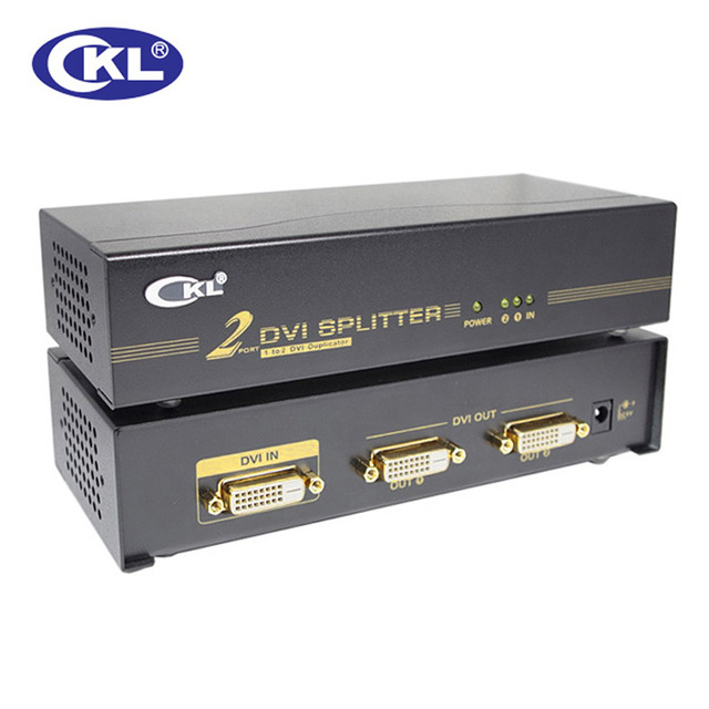 CKL-92E 2 Port DVI Splitter 1 x 2 DVI Signal Distributor Box