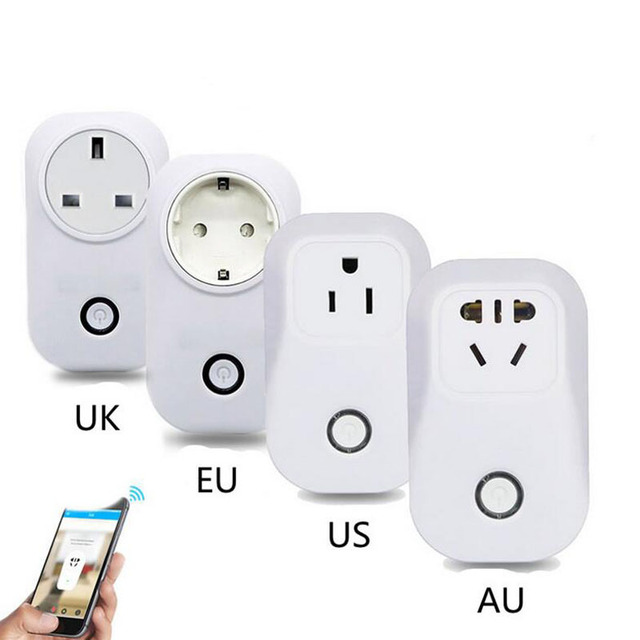 S20 WiFi Smart Socket EU/US/UK/CN Plug Wireless Remote Control Smart Home Automation for iPhone Android Smartphone