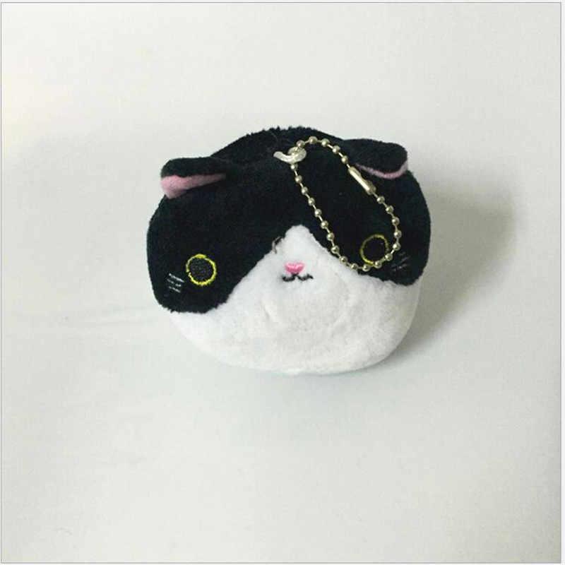 1 pcs 귀여운 작은 고양이 플러시 장난감 인형 만화 고양이 인형 장난감 소녀 키 체인 가방 교수형 인형 7 cm 결혼 선물 인형 크리스마스