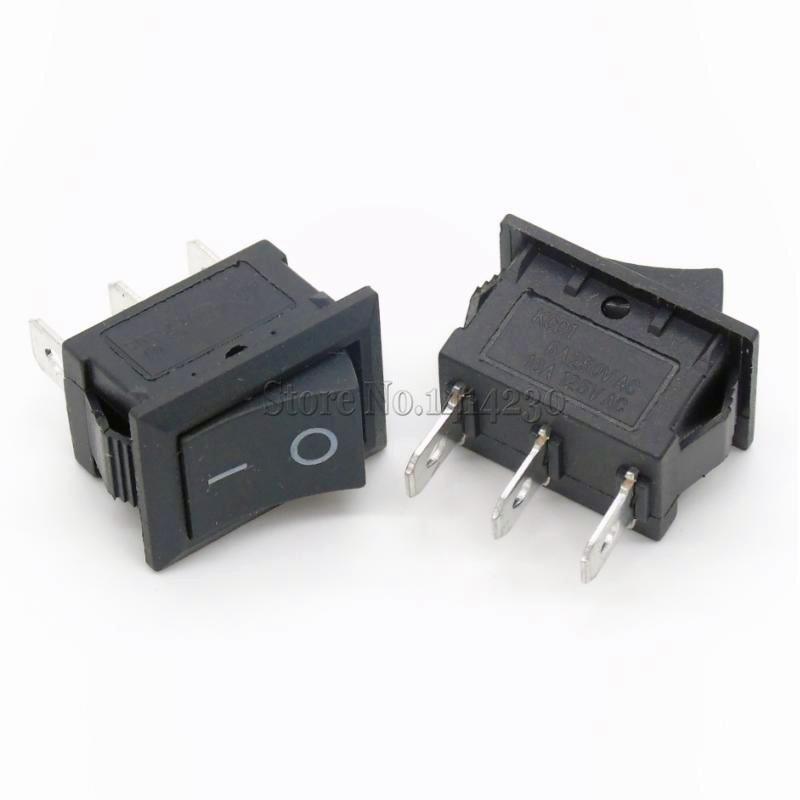 цена на 10PCS Ship Type Switch 15*21mm 3PIN SPST ON/OFF Boat Rocker Switch 6A/250V 10A/125V 15X21mm