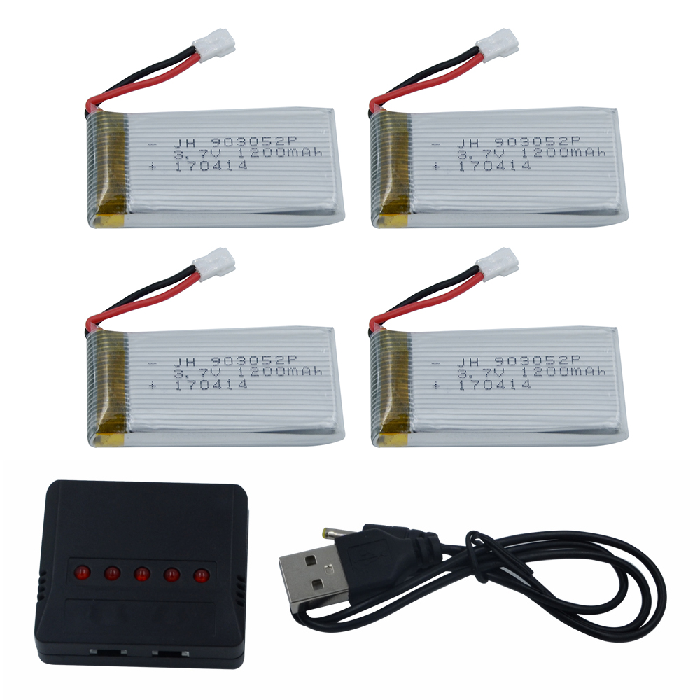 High Quality 4 in 1 Charger Set with 4pcs 3.7V 1200mAh Lipo Battery for Syma X5SW X5SC RC Quadcopter Wholesale Dropship 4pcs 500mah lipo 4 in 1 usb charger set for syma x5hc x5hw quadcopter remote control drone model spare part replacement set