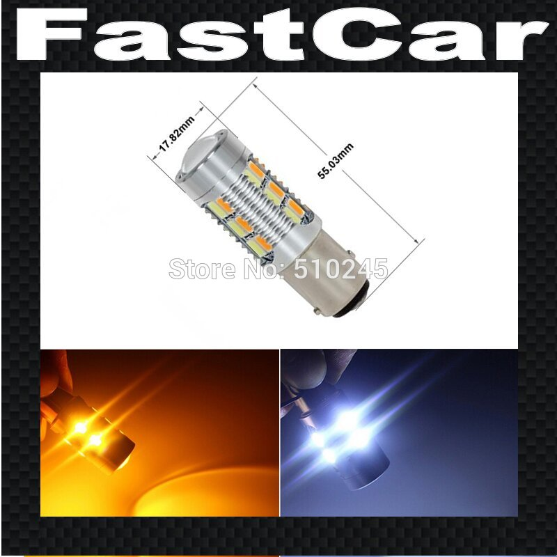 2x 12V auto car led P21/5W 22smd 1157 22 LEDS 5630 BAY15D Switchback White Amber Front Turn Signal Light Lamps free shipping