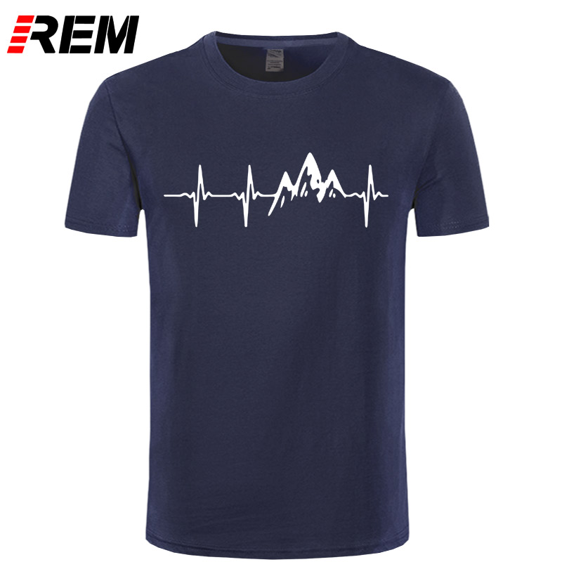 REM Mountain Heartbeat   T  -  Shirt   Fashion Funny Birthday 100% Cotton Short Sleeves   T     Shirts   Causal O-neck Tops Tees Hip Hop