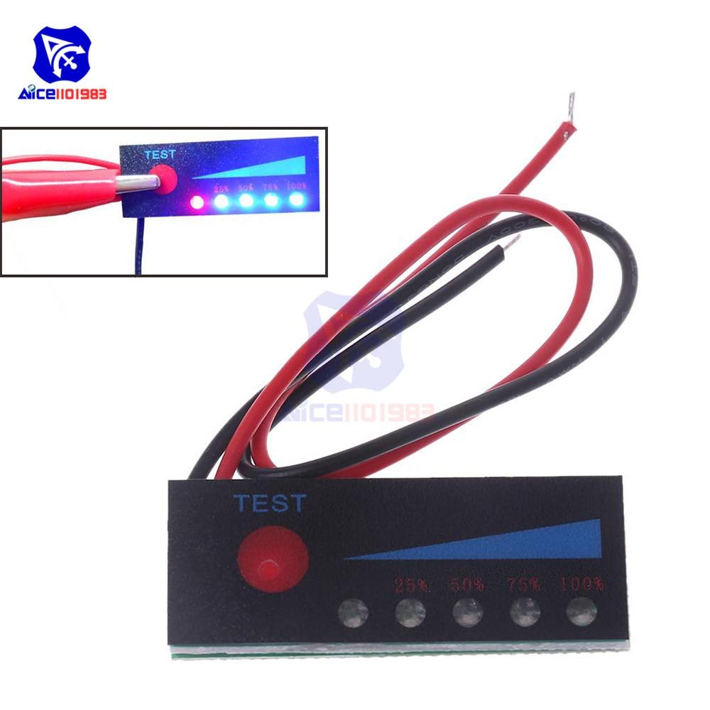 1S 2S 3S 4S 5S 6S 7S 4.2V -29.4V Lithium Battery Capacity Indicator Battery Power Display Board Tester Li-po Li-ion Pack LED