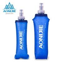 AONIJIE SD09 SD10 250ml 500ml Weichen Glaskolben Folding Faltbare Wasser Flasche TPU Kostenloser Für Laufende Trink Pack Taille tasche Weste-in Wasserbeutel aus Sport und Unterhaltung bei