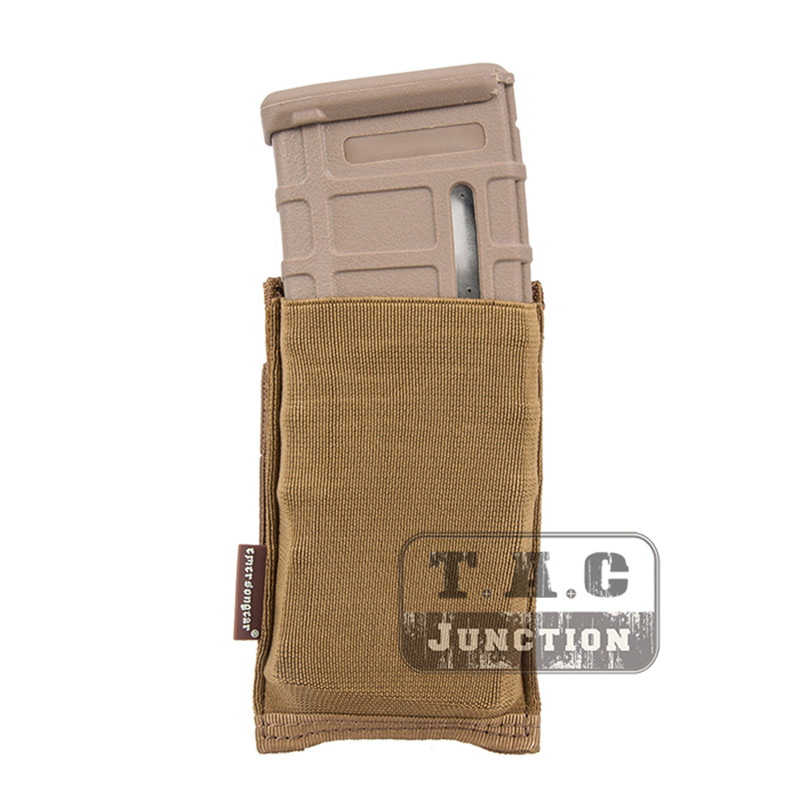 Emerson Tactical Pouch Holster MOLLE / PALS EmersonGear High Speed Single Open Top 5.56 Rifle Magazine Mag Pouch