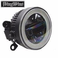 Car Styling Angel Eye Fog Lamp for Suzuki Swift LED DRL Daytime Running Light High Low Beam Fog Light Automobile Accessories