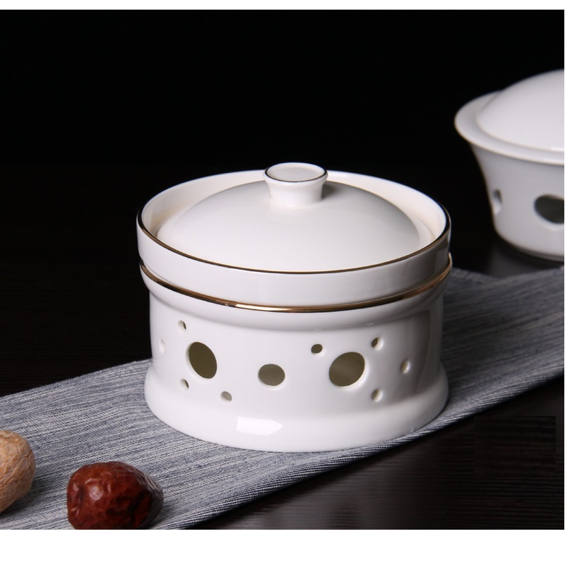 Ceramic Candle Alcohol Stove Phnom Penh Stew Soup Bowl Of Sea Cucumber Millet SOUP Cup Nest Moon Fin Heating Insulation Cup