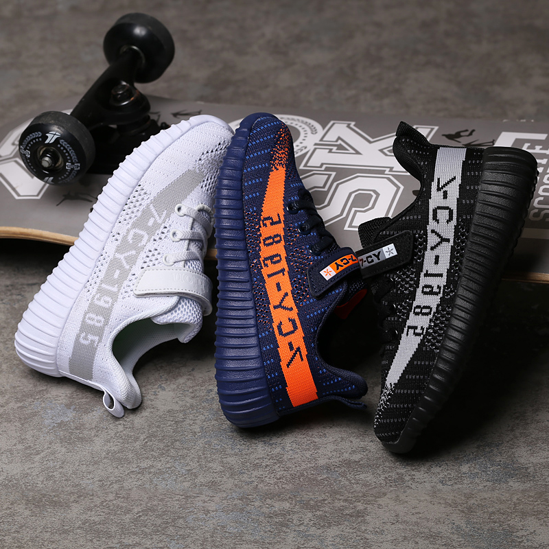 2019 Spring Kids Mesh Shoes Boys Sneakers Handmade Slip On Boys Shoes Girls Trainers Fashion Kids Breathable Sports Footwear in Walking Shoes from Sports Entertainment