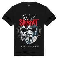 Été hommes/femmes pantoufles T-shirt d'été hauts t-shirts porter le masque Rock T-shirt hommes lâche t-shirts de mode grande taille