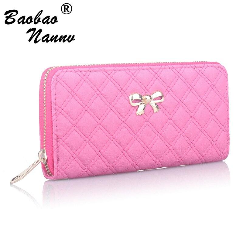 Bow Wallet Purse Money-Bag Clutch Cellphone-Pocket Women Cute Female-Card-Holders Durable