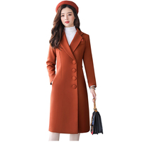 Wool Coat Women 2018 New Thick Warm Winter Jacket Loose Large size Medium length Outerwear High Quality Female Basic Coats NW670