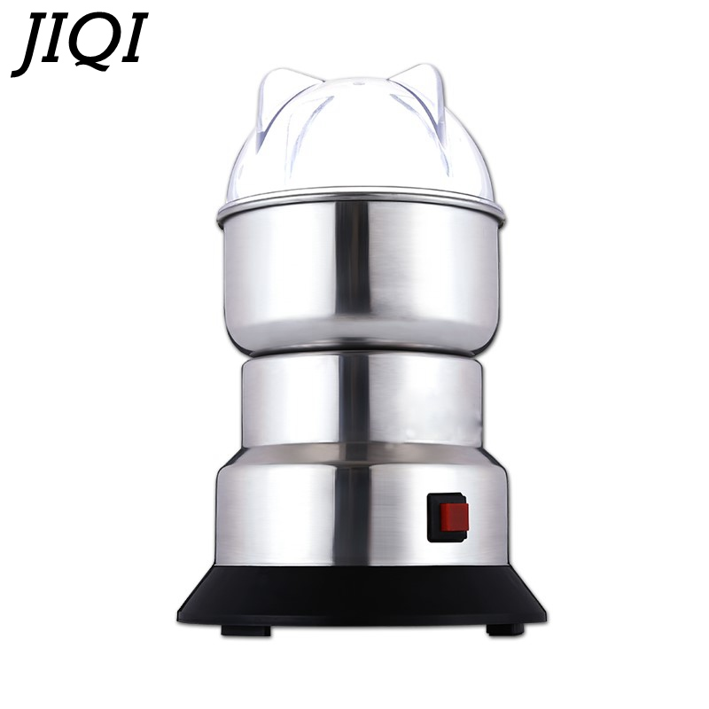 все цены на JIQI coffee bean corn Grinder machine electric coffee mill Beans Nuts Grinding Machine stainless steel Blades powder Crush