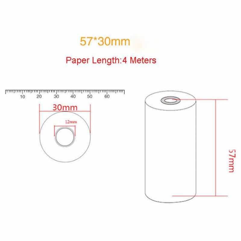 Lote de 5 unidades de papel térmico de recibos para móvil, lote de 5 unidades de 7x30mm y 58mm