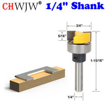 """1pc Template Trim Hinge Mortising Router Bit   1/4"""" Shank Woodworking cutter Tenon Cutter for Woodworking Tools"""
