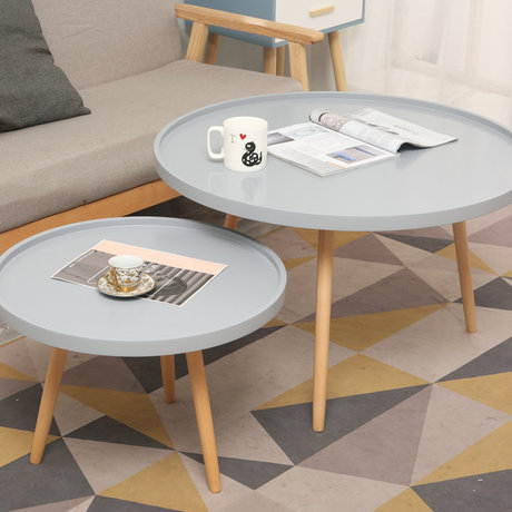 Cafe Tables living room Furniture solid wood coffee table round table desk mesa cafe mesa de centro new 55*55*38cm / 80*80*48cm end table