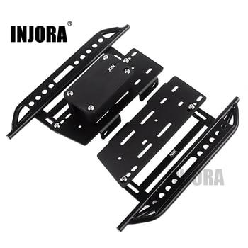 INJORA 2 uds Metal Pedal y caja de receptor para 1:10 RC Rock Crawler coche Axial Scx10 SCX10 II 90046 Jeep Wrangler Shell cuerpo