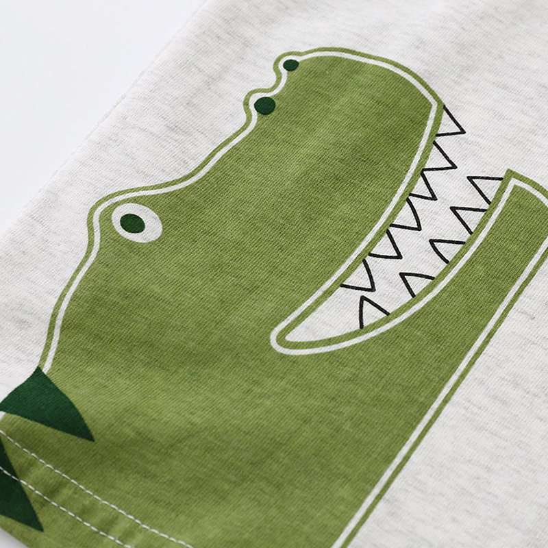 I.K niemowląt chłopców letnich dinozaurów krótkie zestawy - Ubrania dziecięce - Zdjęcie 3