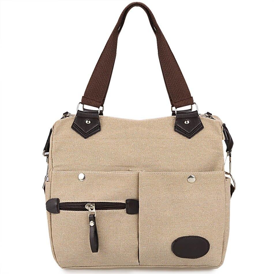 ФОТО Women Canvas Many Pockets Multi-functional Shoulder Bag Handbag Cross Body Messenger Bag