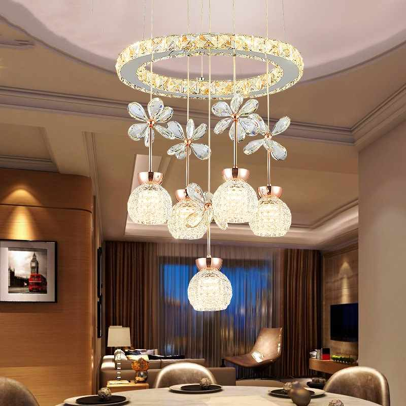 Modern Led Crystal Chandelier Lighting Lustre Ceiling Chandeliers Light Lamparas De Techo Hanglamp Suspension Luminaire Lampen