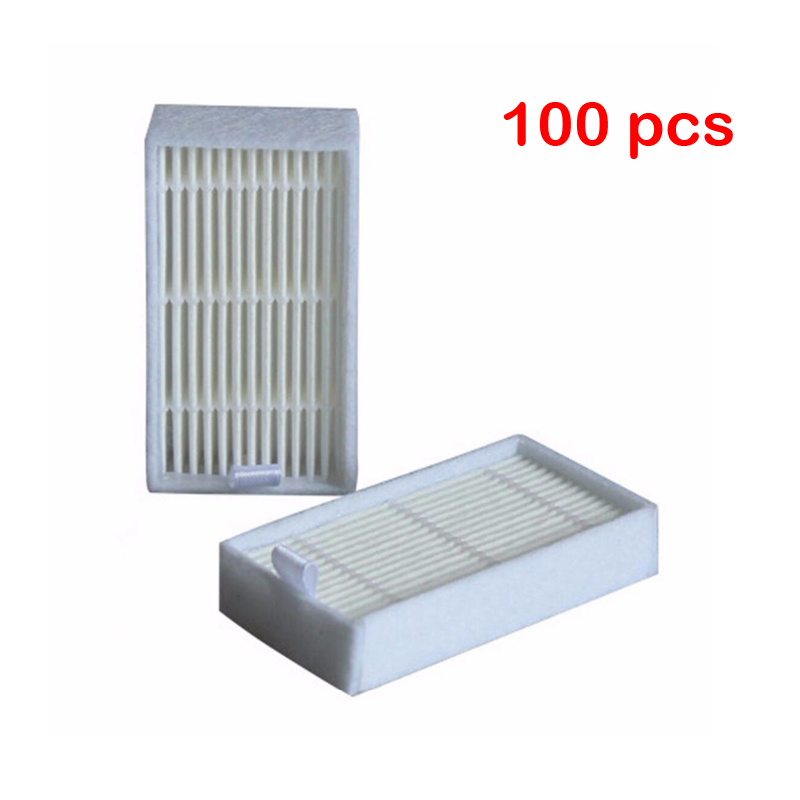 100 Piece dibea x500 hepa filter for Ecovacs Mirror CR120 Dibea x500 x580 Series Vacuum Cleaner Free shipping 4 hepa filter 6 side brush 3l 3r kit for ecovacs dibea x500 x580