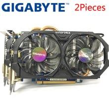 Gigabyte 2 peças placa gráfica gtx 660 2 gb 192bit gddr5 placas de vídeo para nvidia geforce usado placas vga mais forte do que gtx 750 ti