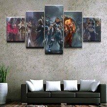 Magic Gathering Game HD Print Picture Painting Home Decor Artwork 5 Pieces Canvas Wall Art Living Room
