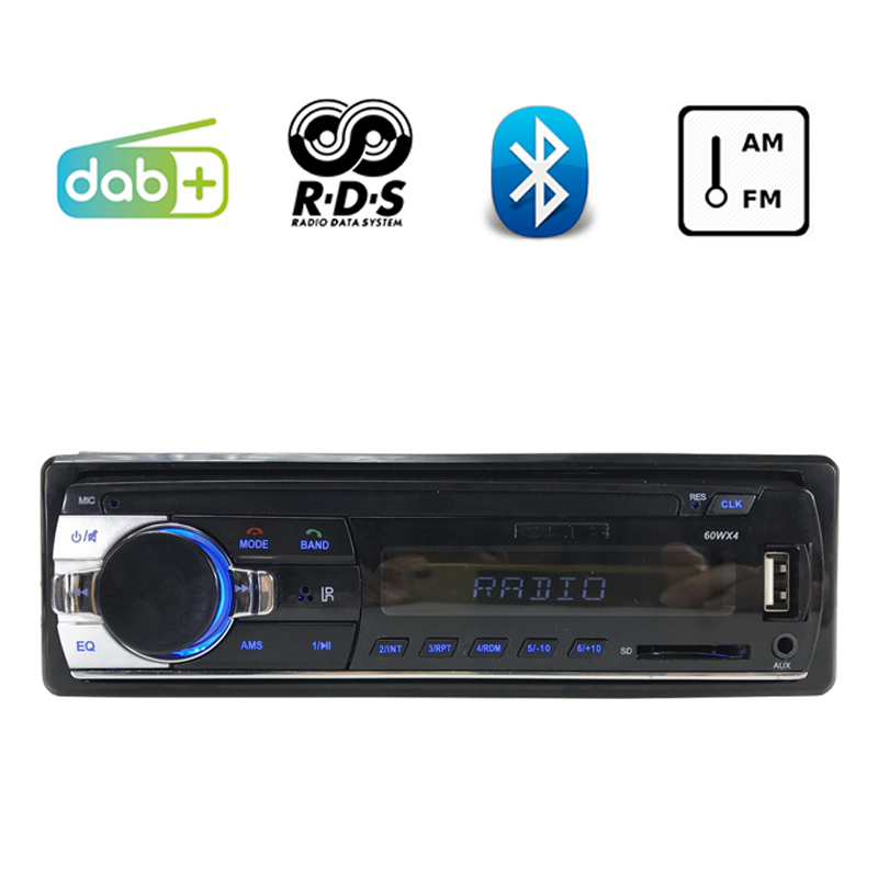 Autoradio LCD Dispaly 1 DIN Bluetooth Car Radio Stereo RDS USB And SD Card Slot DAB+ FM AM AUX Audio MP3 radio cassette player|Car Radios| |  - title=