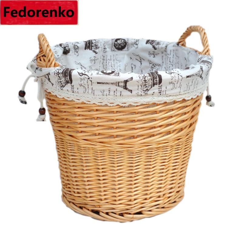 shporta e punuar me dorë natyrale të endura me shporta rroba të - Magazinimi dhe organizimi në shtëpi - Foto 5
