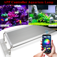 hot deal buy 50-70cm rgb smd 5050 aquarium led lighting extendable bracket clip on marine led light for fish tank lamp for led aquarium light