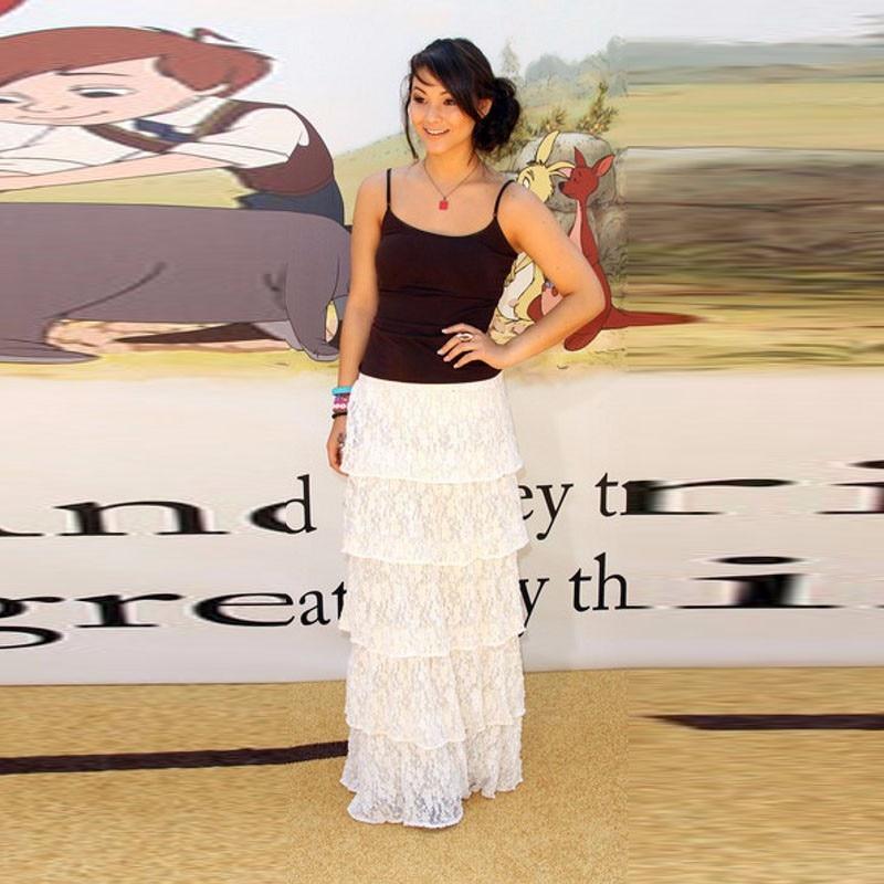 Fashion Tiered Lace Skirt A Line Floor Length High Quality saias na altura do joelho Custom Made Women Clothing Straight Skirt