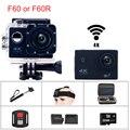 F60 ou F60R 30fps Wi-fi Allwinner V3 Câmera de Ação À Prova D' Água 4 K controle remoto ir pro esporte câmera mini cam gopro hero 4 estilo