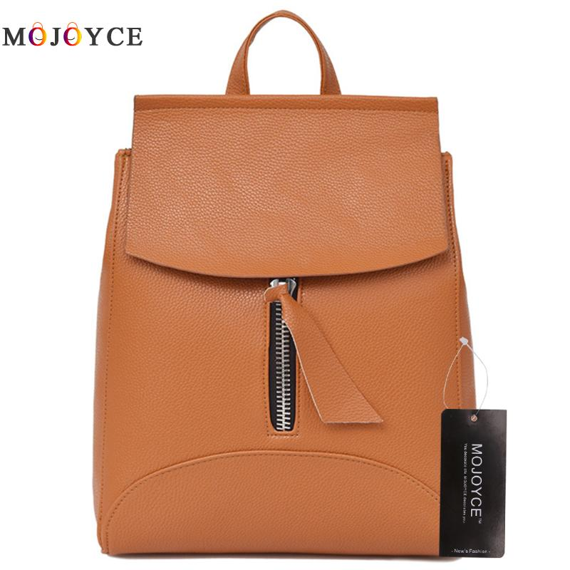 Fashion Women Backpack Teenage Girls Female School Shoulder Leather Backpack Mochila Feminina joypessie composite women backpack pu leather backpack for teenage girls female school backpack with shoulder purse