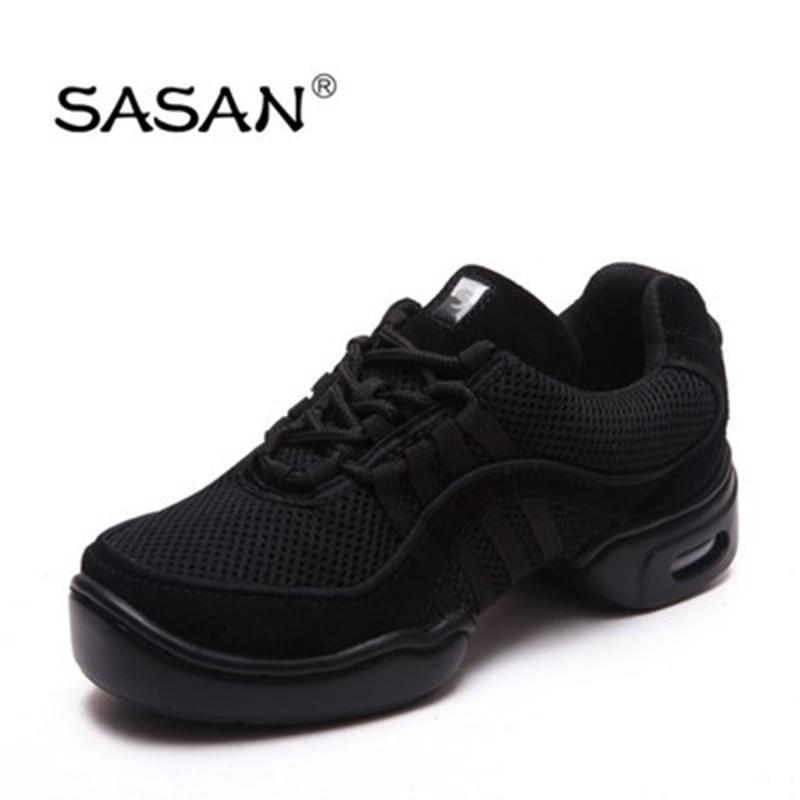 Sneakers Dance Shoes Woman SASAN 8805 Modern Shoes Slip up 2018 Canvas Black MEN SHOE Heel