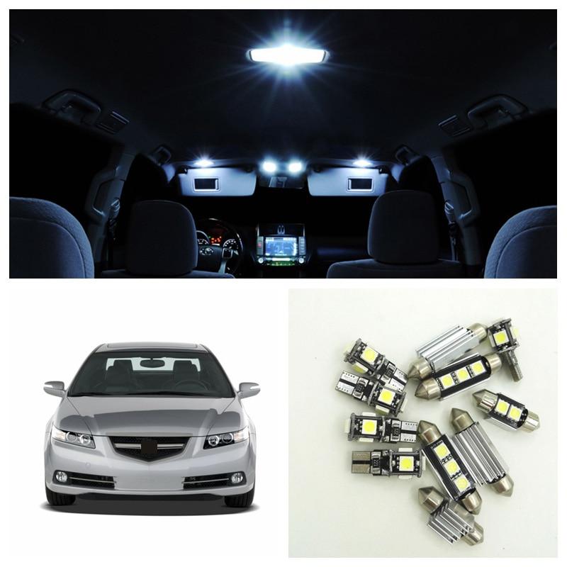 12pcs white led car light bulbs interior package kit for - 2004 acura tl led interior lights ...