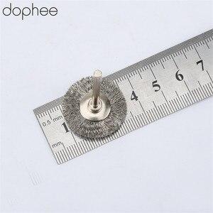 Image 4 - Dophee 5Pcs Dremel อุปกรณ์เสริมสแตนเลส 25 มม.เส้นผ่าศูนย์กลางล้อแปรงสำหรับเครื่องบด Dremel อุปกรณ์เสริมโรตารี่เหล็ก
