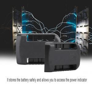 Image 3 - 5 шт. черные крепления батареи для De Walt XR 18V 60V Полка Для Хранения Подставка держатель Слоты вешалка для полок в мастерских