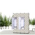 Белый плед шкаф собран складные пластиковые смолы композиции спальне шкаф для одежды стали GY-90