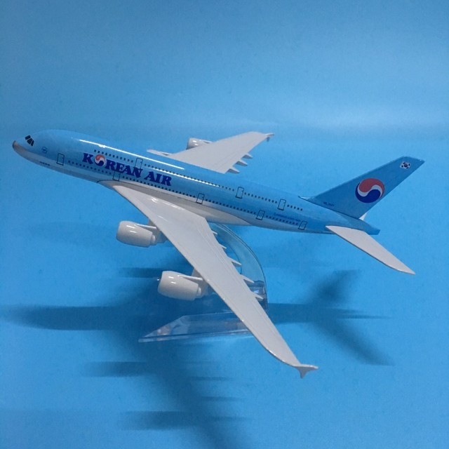 JASON TUTU Diecast Metal Aircraft Model 1:200 20cm Korean Air Airbus A380 Plane Model Airplane Model Airplanes Plane Toy Gift