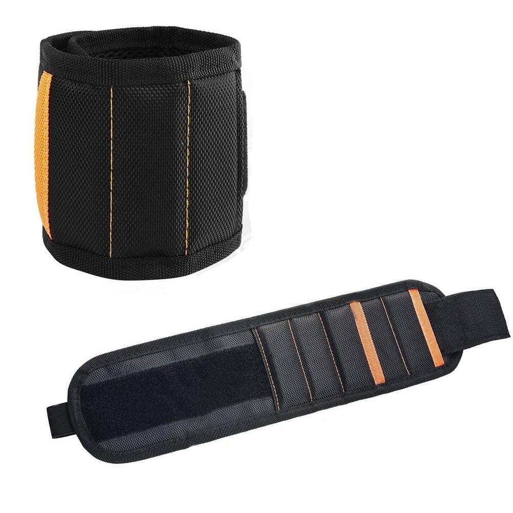 Magnetic Wristband Bag Magnetic Wrist Strap Magnet Tool Picker For Fixing Screws, Nails, Drill Wrist Straps