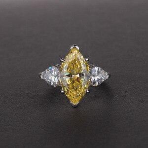 Image 4 - OneRain Vintage 100% 925 Sterling Silver Mariquesa Sapphire Topaz Citrine Wedding Engagement Couple Lover Women Men Ring Jewelry