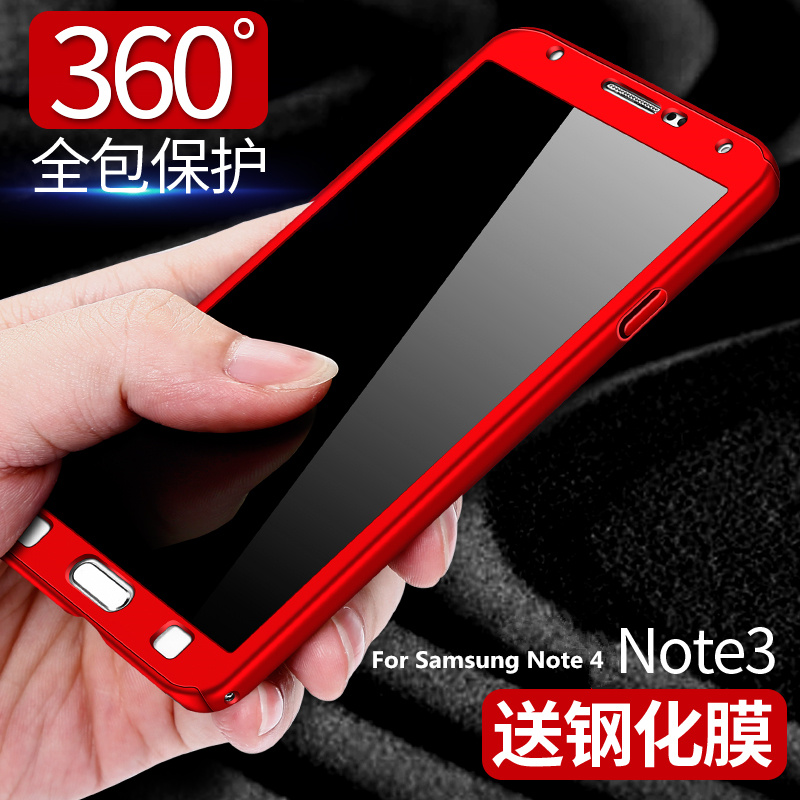 For Samsung Galaxy Note 3 Note3 N900 Case <font><b>360</b></font> Full Protect Ultra Thin <font><b>Phone</b></font> <font><b>Cover</b></font> For Samsung Note 4 Note4 N9100 +Tempered Glass