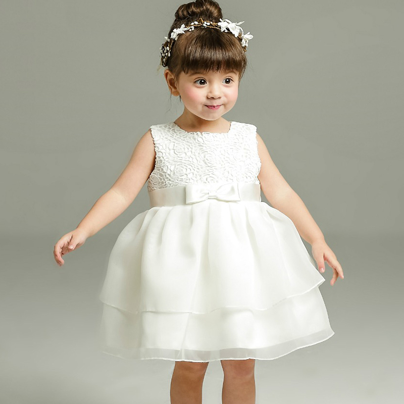 9679e4d82 Christening Gowns For Girls Ivory Baby Girl 1 Year Birthday Dress Chiffon  Girl White Princess Dress For Kids Baptism Gowns Girls-in Dresses from  Mother ...