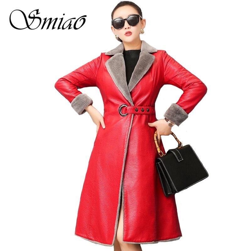 2018 de moda de las mujeres de cuero de invierno Chaqueta Slim abrigos de piel con capucha otoño Trench abrigo tamaño 4XL más gruesas chaquetas de cuero