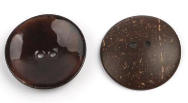 Цветная круглая Кокосовая декоративная кнопка, большая Деревянная пряжка, сделай сам, пальто для одежды, Кокосовая оболочка, клеевая кнопка, Детская Кнопка 63 мм - Цвет: 8